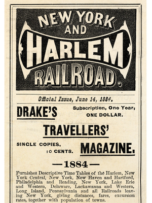 New York & Harlem Railroad Timetable, 1884