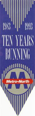 Ten Years Running Bookmark